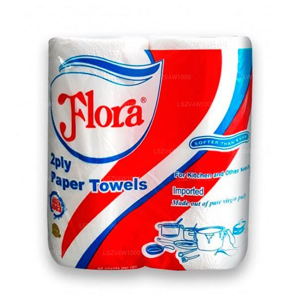 Flora Tissues Kitchen Towel (Two Roll Pack) Roll