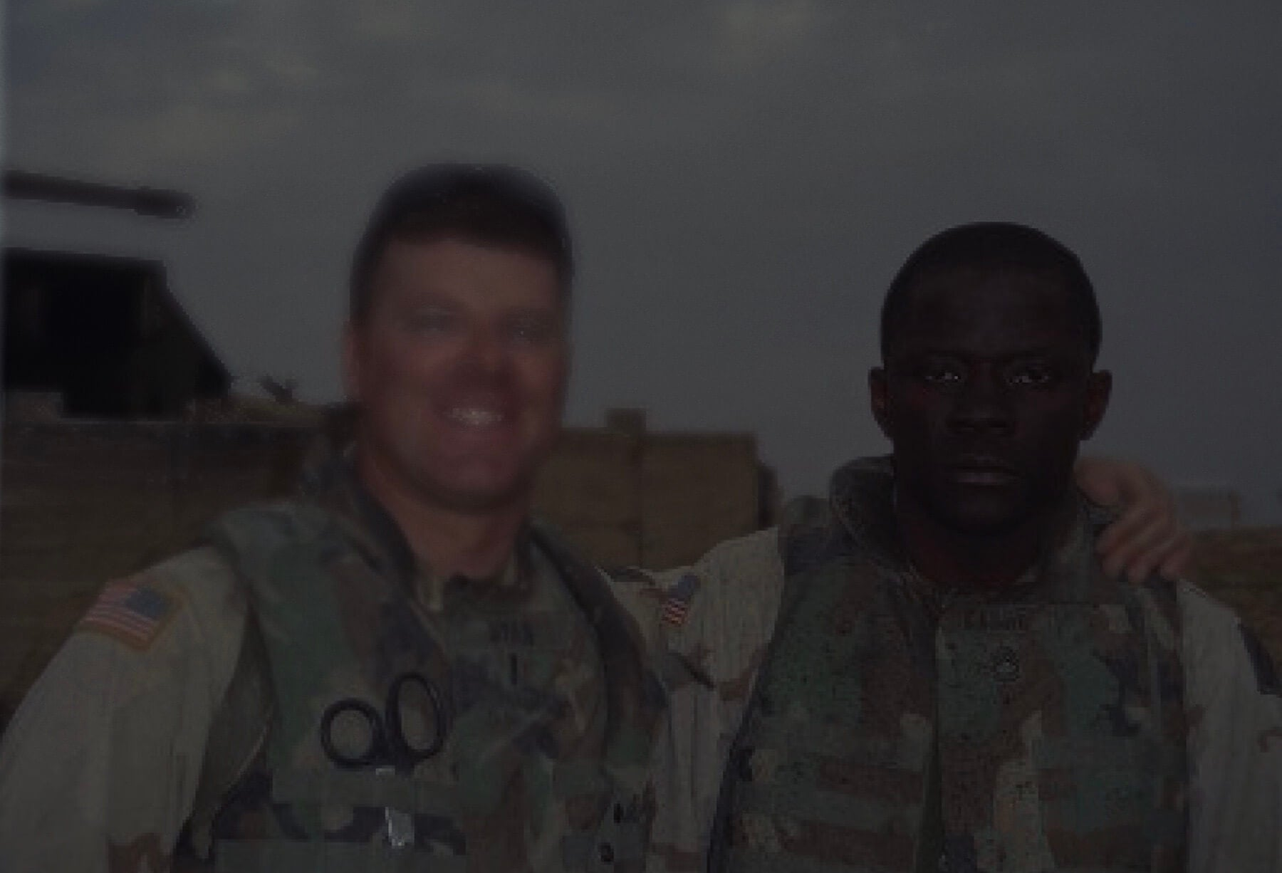 SFC Alwyn Cashe and Lt. James Ryan with black overlay