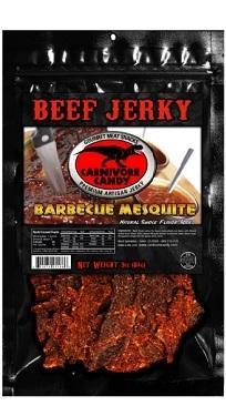Barbecue mesquite in resealable pack.