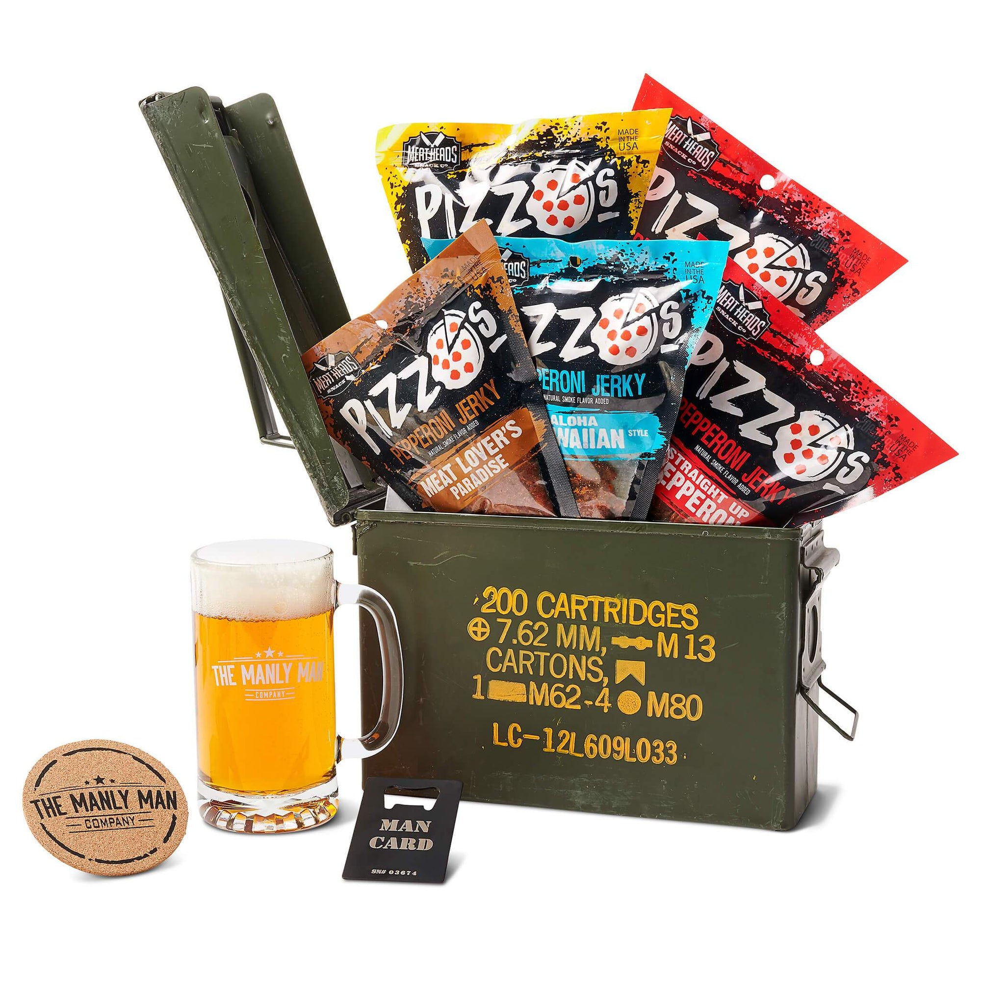 Pizza Jerky Ammo Can Gift Basket