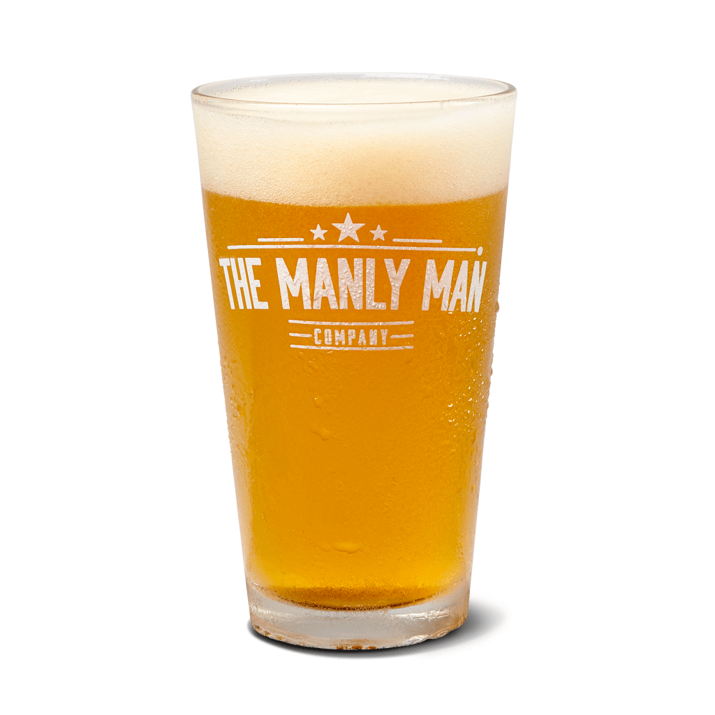 Manly Man Co. Pint Glass