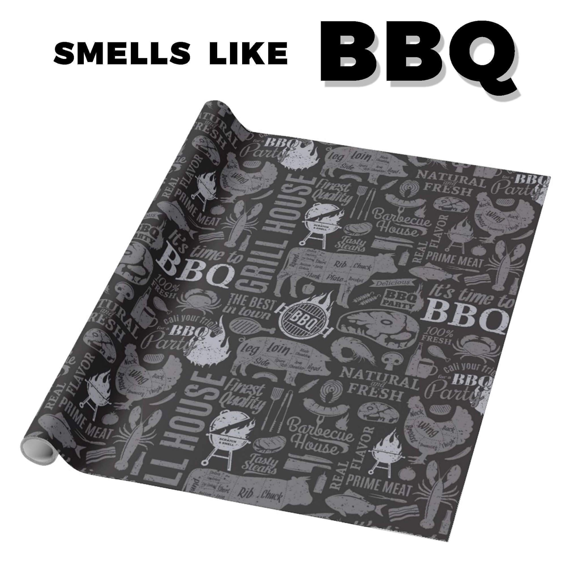 "BBQ Scented Gift Wrapping Paper 30"" x 6'"