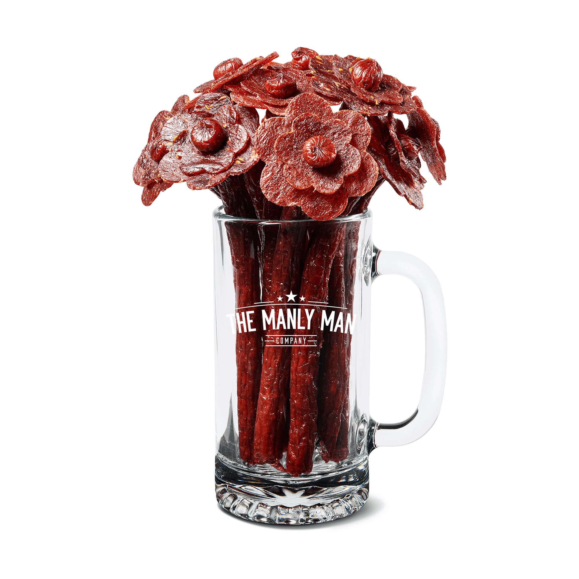 Beef Jerky Flower Bouquet + Beer Mug (Father's Day Reservation)