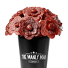 Beef Jerky Flower Bouquet - Black Steel Edition (Father's Day Reservation) Full Dozen / Mixed (Original, Teriyaki & Hot)