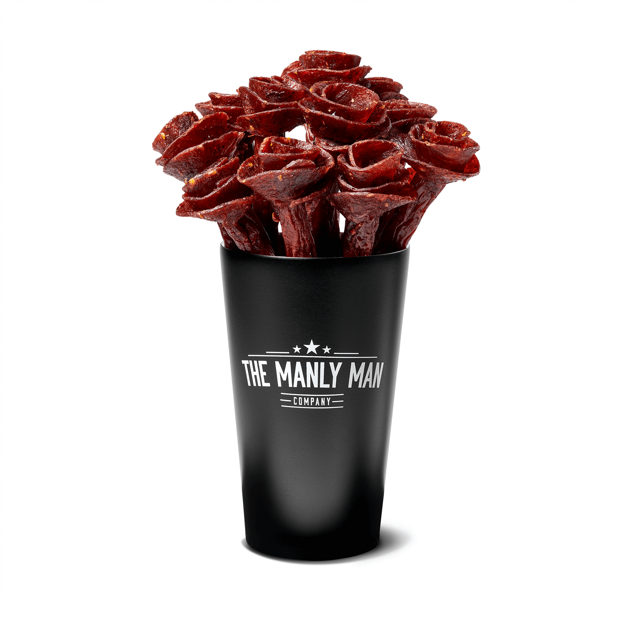 Beef Jerky Rose Bouquet - Black Steel Edition Full Dozen / Mixed