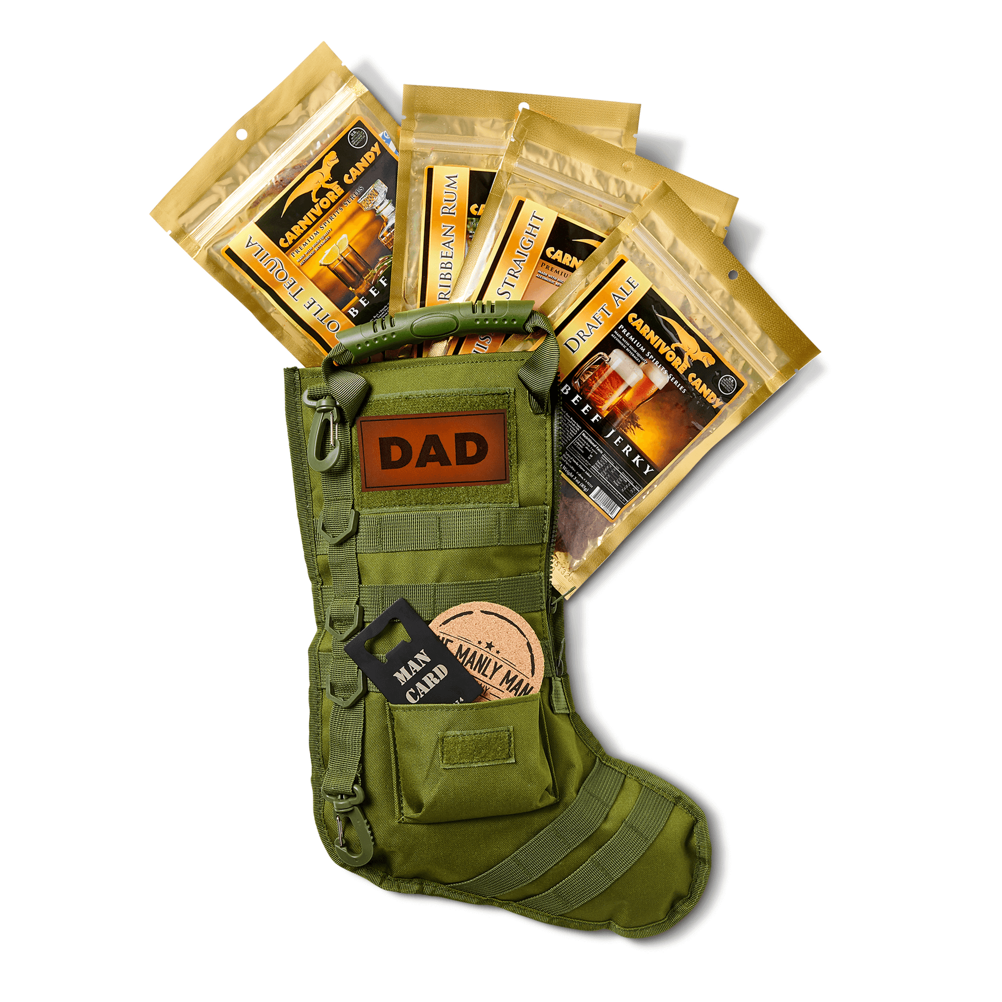 Booze Infused Jerky Tactical Christmas Stocking Kit (Personalized)