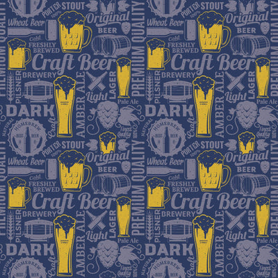 Craft Beer Scented Gift Wrapping Paper