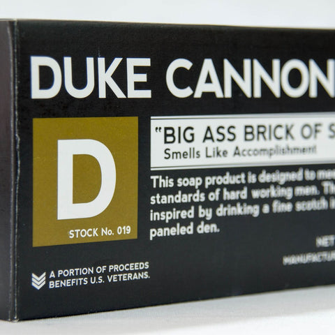 "Duke Cannon Supply Co. Big Ass Brick of Manly Soap - ""Smells Like Accomplishment"""