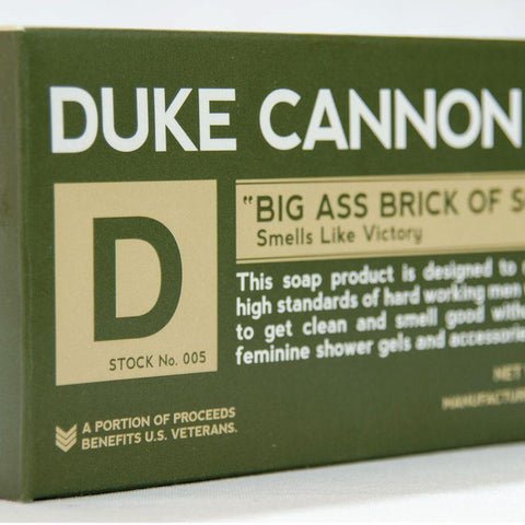"Duke Cannon Supply Co. Big Ass Brick of Manly Soap - ""Smells Like Victory"""