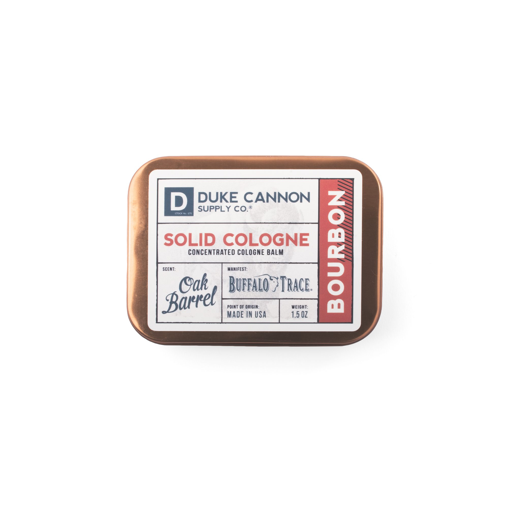 Duke Cannon Supply Co. Solid Cologne - Bourbon