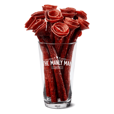 The Manly Man Company Valentines Day Reservations of Beef Jerky Rose Bouquet