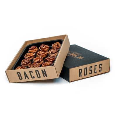 The Manly Man Company, Inc Father's Day Pre-order of BACON JERKY ROSES + Dark Chocolate Full Dozen
