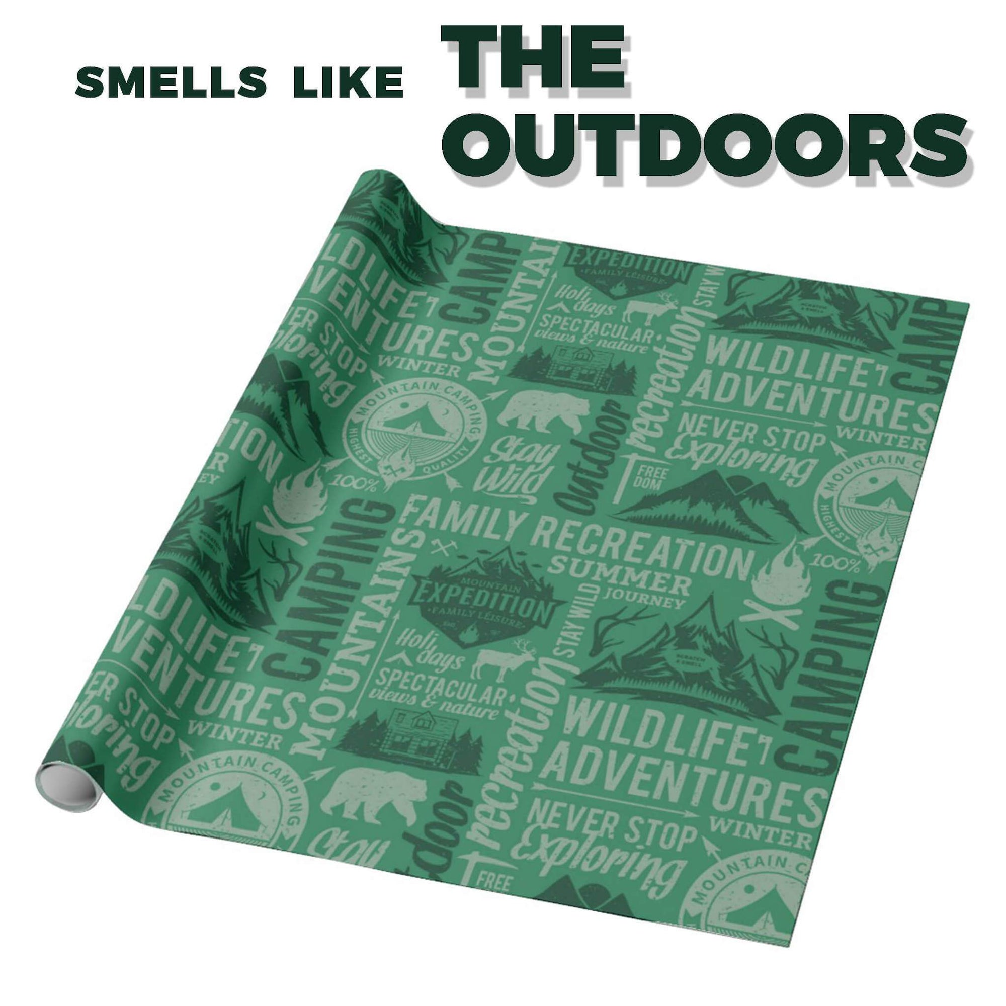 "The Outdoors Scented Gift Wrapping Paper 30"" x 6'"