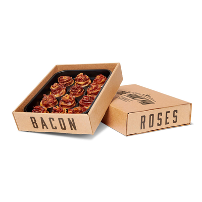 Valentines Day Reservation of BACON ROSES + Caramel Full Dozen