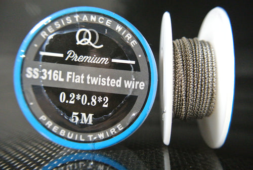 Flat Twisted Wire SS-316L Stainless Steel
