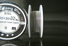 Staggered Fused Clapton SS-316L Stainless Steel Wire Spools