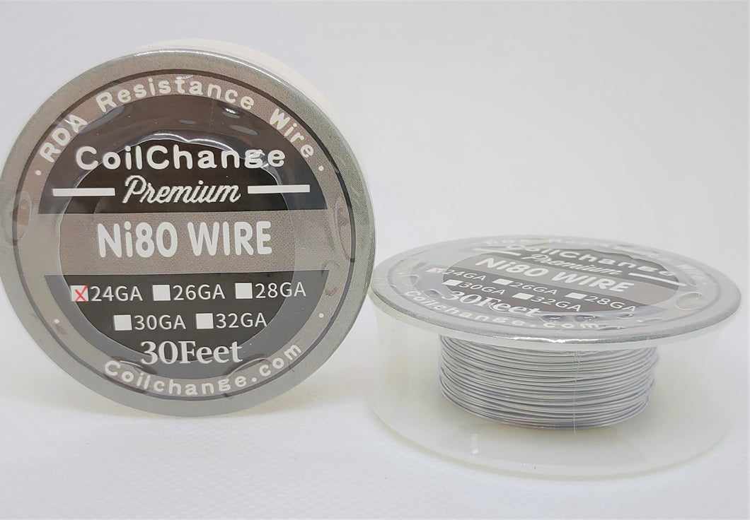 Standard Round Wire (Ni80) 9 Sizes 30ft Spools