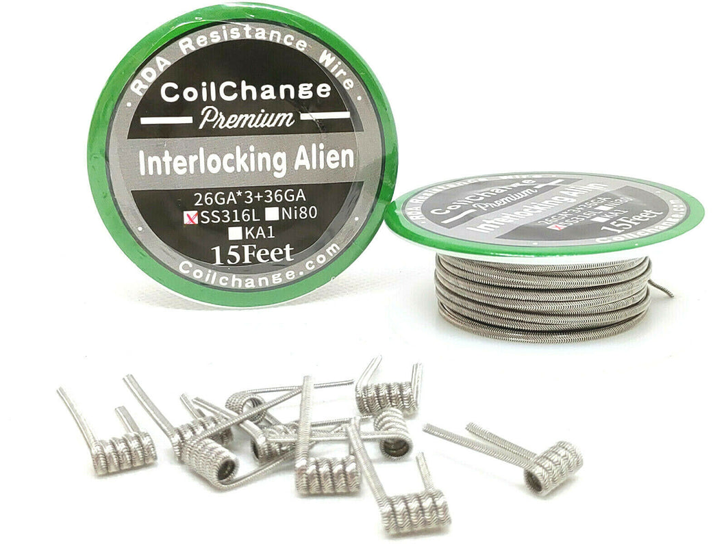Interlocking Alien (KA-1 Kanthal) Spool (15ft)
