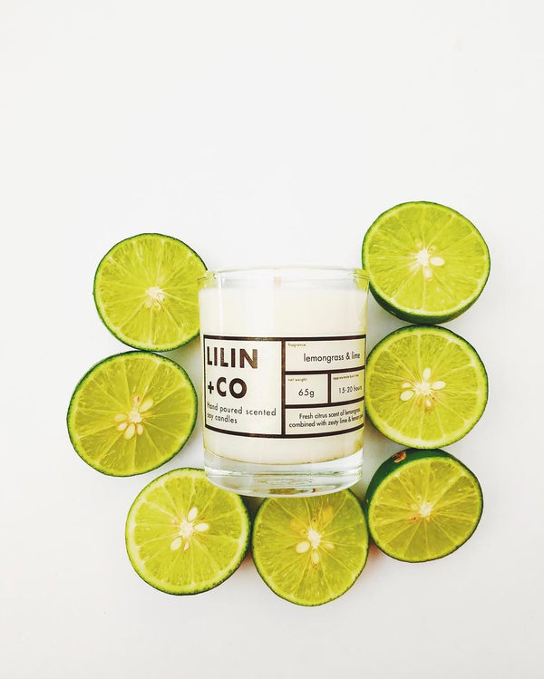 Lemongrass and lime soy candle