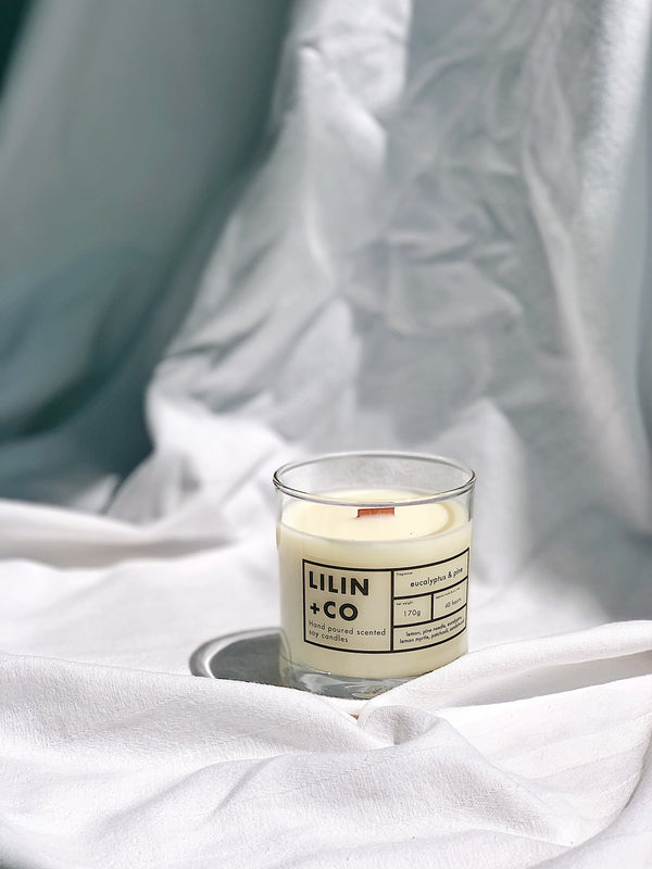 Eucalyptus and pine soy candle