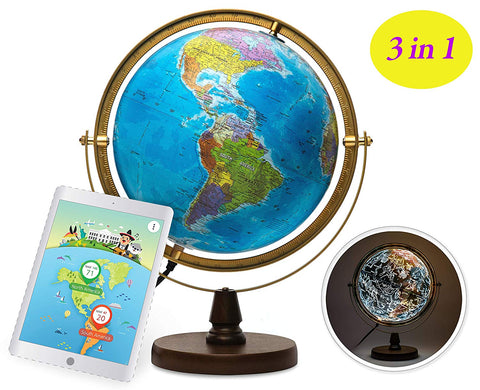 SJ Smart Globe - 720 degree rotating (USB cable version)