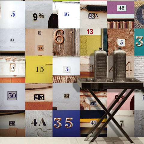 U2 Wallpaper - Door Numbers - 14 Sheets