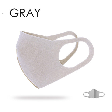 Breathable Fashion Mask - 1pc gray