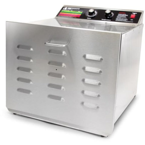 "The Sausage Maker D10 Stainless Steel Dehydrator w/SS Shelves (.25"" Holes)"