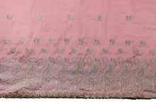 Load image into Gallery viewer, Machine Embroidered George Wrapper Design # 7399 - Peach - With Blouse