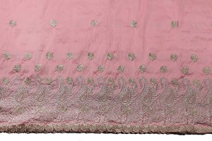 Machine Embroidered George Wrapper Design # 7399 - Peach - With Blouse
