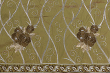 Load image into Gallery viewer, Machine Embroidered George Wrapper Design # 7350 - Olive Green  - With Blouse