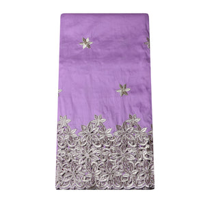 Machine Embroidered Single George Wrapper Design # 5003 - Lilac
