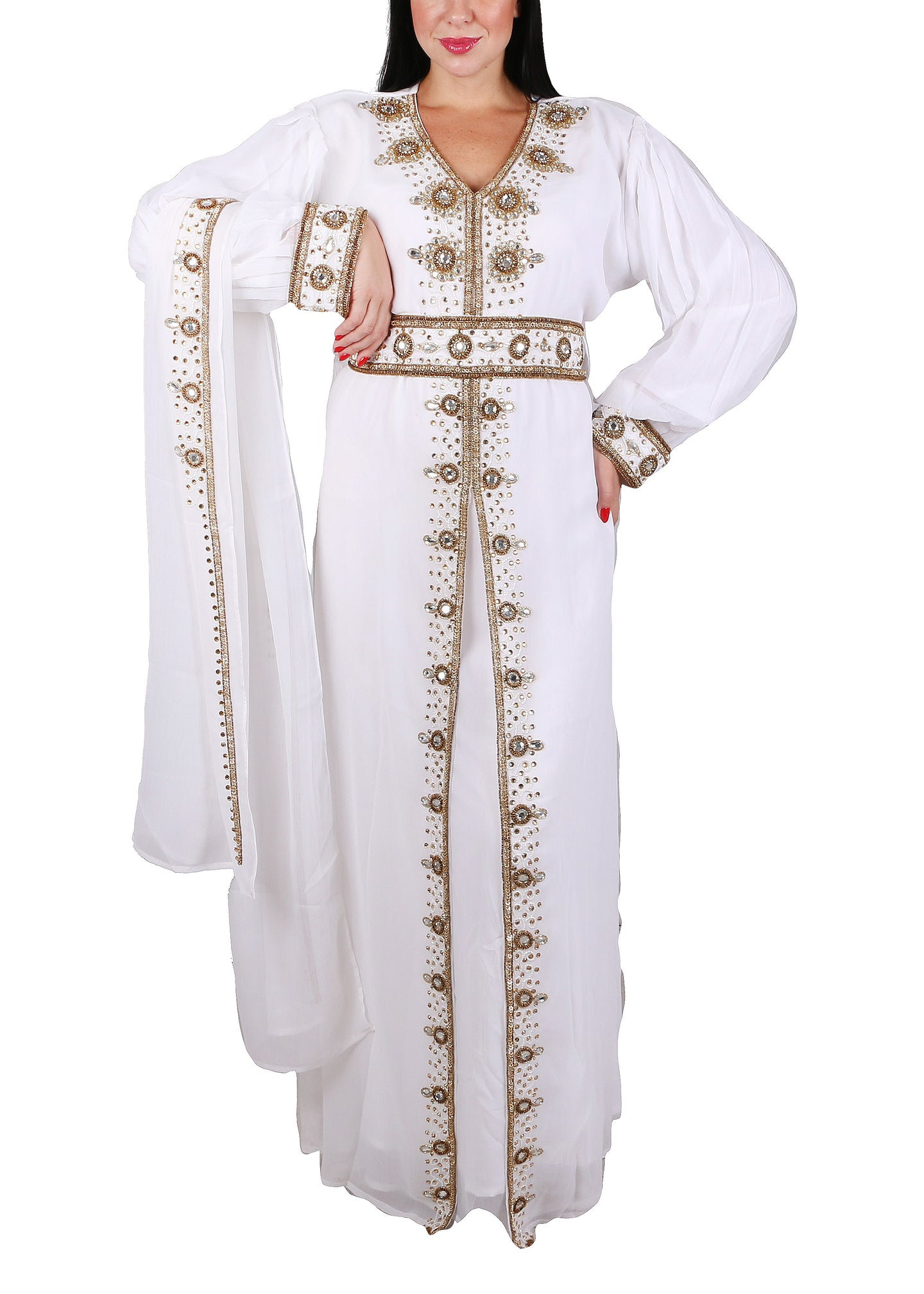 Kaftan Design # 7095 - Pure White