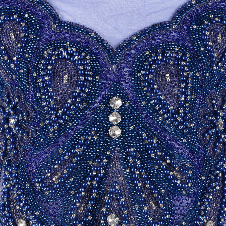 Bespoke Blouse Design # 3015 - Royal Blue - 1.75 Yards