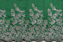 Load image into Gallery viewer, Hand Stoned George Wrapper Design # 6682 - Pure Green - With Blouse