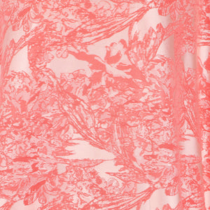 Jacquard Fabric Design # 1006 - Peach  - Per Yard