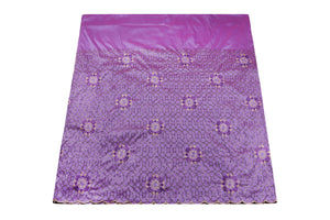 Machine Embroidered George  Wrapper Design # 7434 - Lilac - With Blouse