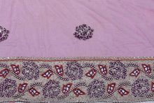 Load image into Gallery viewer, Hand Embroidered Blouse Design # 3221 - Purple - 1.7 Yards