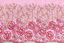 Load image into Gallery viewer, Hand Stoned George Wrapper Design # 6707 - Baby Pink - With Blouse