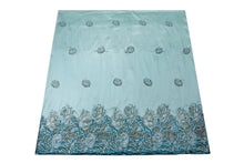 Load image into Gallery viewer, Hand Stoned George Wrapper Design # 6588 - Sky Blue - With Blouse