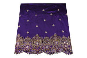 Hand Stoned George Wrapper Design # 6718 - Purple - With Blouse