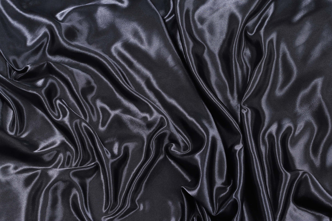 Plain Silk Satin - Black - 5 Yard Piece