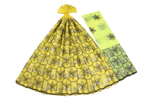 Load image into Gallery viewer, Machine Embroidered George Wrapper Design # 7456 - Yellow - With Blouse