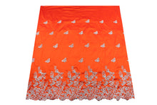 Load image into Gallery viewer, Hand Stoned George Wrapper Design # 6682 - Burnt Orange - With Blouse