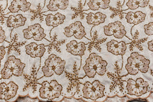 Load image into Gallery viewer, Hand Stoned George Wrapper Design # 6729 - Cream - With Blouse