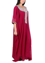 Load image into Gallery viewer, Kaftan Design # 7197 - Magenta - Free Size