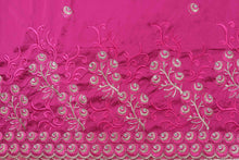 Load image into Gallery viewer, Machine Embroidered George Wrapper Design # 7043 - Fuchsia Pink - Without Blouse
