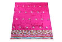 Load image into Gallery viewer, Machine Embroidered George Wrapper Design # 7097 - Fuchsia Pink - Without Blouse