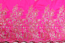Load image into Gallery viewer, Hand Stoned George Wrapper Design # 6615 - Fuchsia Pink - With Blouse