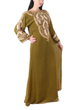 Load image into Gallery viewer, Kaftan Design # 7147 - Olive Green